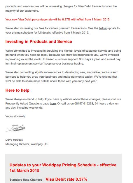 WorldPay letter 2