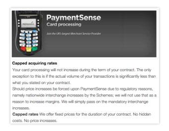 Paymentsense Price Guarantee