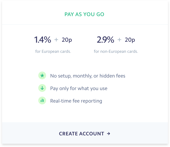 Stripe Pricing Table