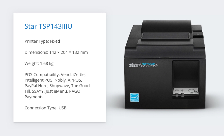 Star TSP143IIIU Receipt Printer