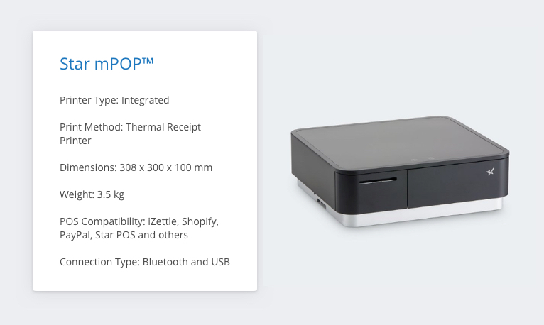 Star mPOP™ iZettle Receipt Printer