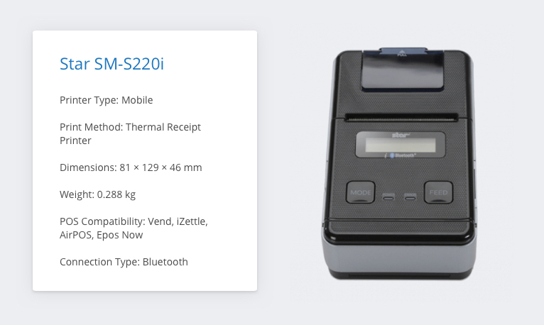 Star SM-S220i iZettle Receipt Printer