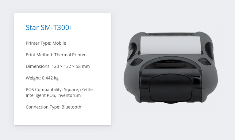 Star SM-T300i iZettle Receipt Printer
