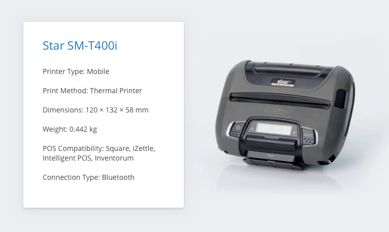 Star SM-T400i iZettle Receipt Printer