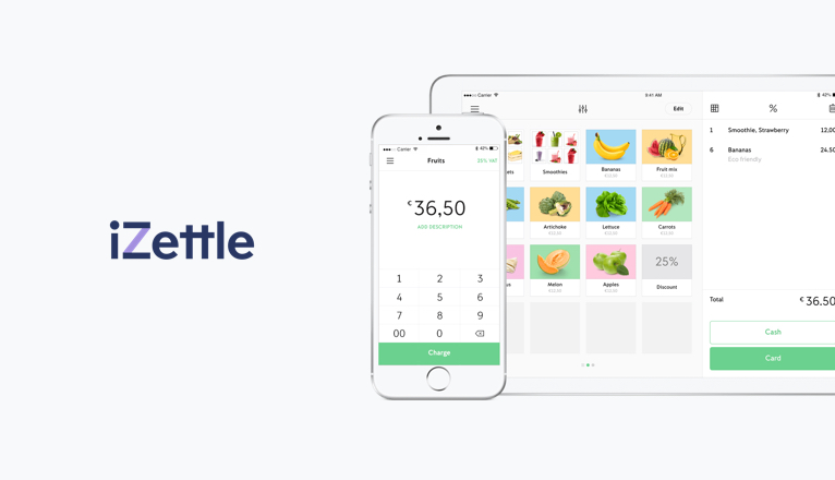 iZettle POS Screen
