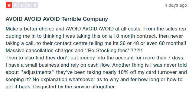 paymentsense review negative