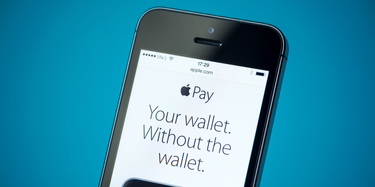 iPhone with Apple Pay website