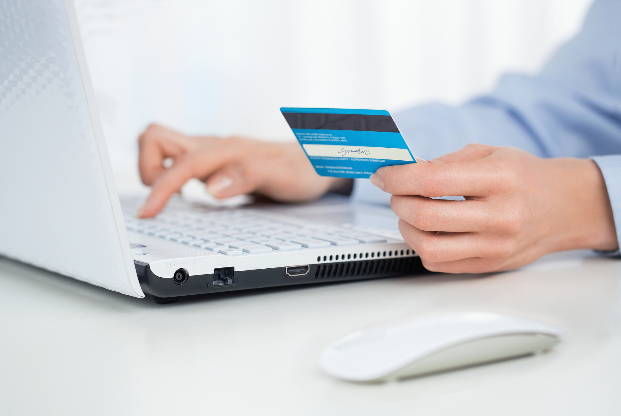 paying online with card